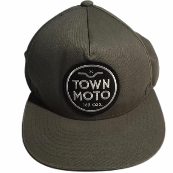 2 for $20 Town Moto Hat Snapback Cap Khaki.
